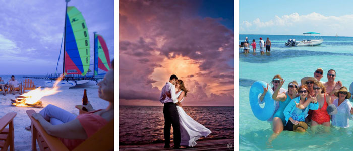 Groups and Weddings at St Georges Caye Resort Belize photo collage