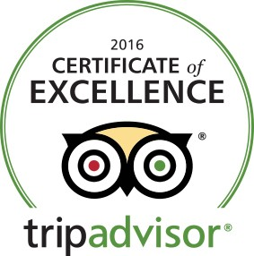 Six Years in a Row! Your Reviews Earned Us Another Certificate of Excellence from TripAdvisor